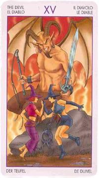 Старший аркан таро дьявол (таро ведьм)