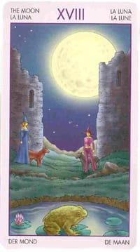 Старший аркан таро Луна (таро ведьм)