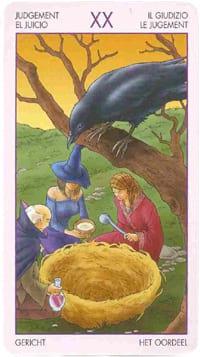 Старший аркан таро Суд (таро ведьм)