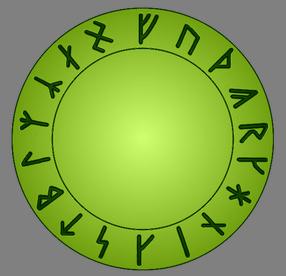 Рунный круг (Арманичиский футарк)