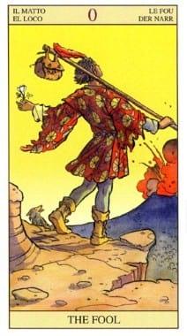 0(XXII). Шут (Дурак) Старший Аркан Таро Райдера Уайта Fool1